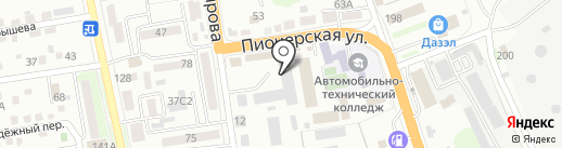Самурай на карте Уссурийска