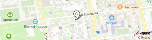 Уссурийская центральная городская больница на карте Уссурийска
