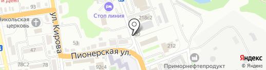 Зевс на карте Уссурийска