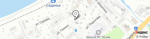 Ульяна на карте Владивостока