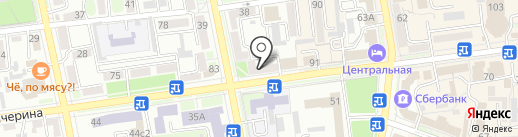 Центральная городская библиотека им. М. Горького на карте Уссурийска