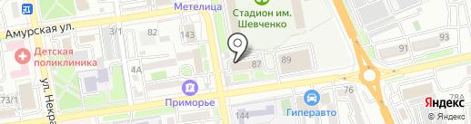 Спортивная на карте Уссурийска