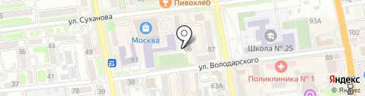 Противопожарное Общество на карте Уссурийска