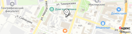 Кураж на карте Уссурийска