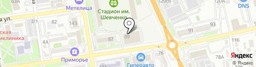 Мастер Джим на карте Уссурийска