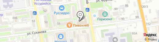 НЭК на карте Уссурийска