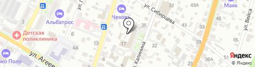 Здравпункт на карте Уссурийска