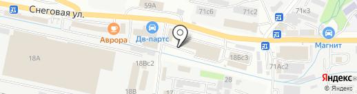АА125 на карте Владивостока