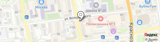 Нодир на карте Уссурийска