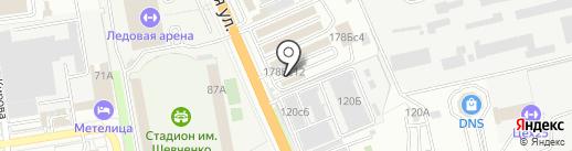 Магазин автомобильных аккумуляторов на карте Уссурийска