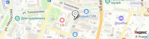 Бульвар на карте Уссурийска