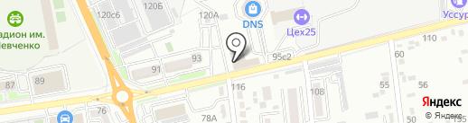 Таежник на карте Уссурийска