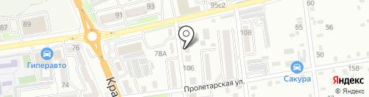 Базванов на карте Уссурийска