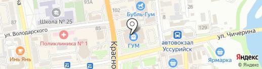 Модница на карте Уссурийска