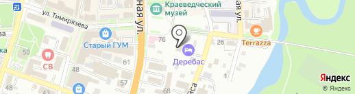 Деребас на карте Уссурийска