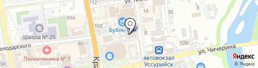 Диамант на карте Уссурийска