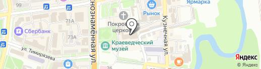 Легенда на карте Уссурийска