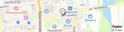 Мегафон на карте Уссурийска