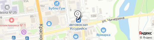 Магазин печатной продукции на карте Уссурийска
