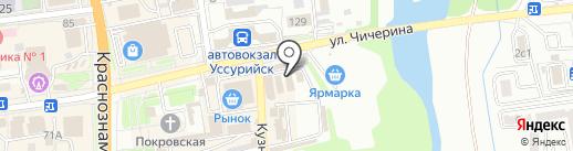 Памятник на карте Уссурийска