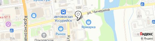 Зелёный исток на карте Уссурийска