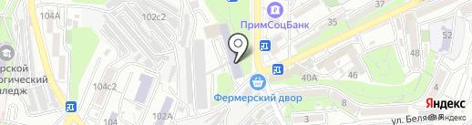 Промышленный колледж энергетики и связи на карте Владивостока