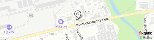 Компания по установке автостекол на карте Уссурийска