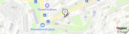 Магазин одежды на карте Владивостока