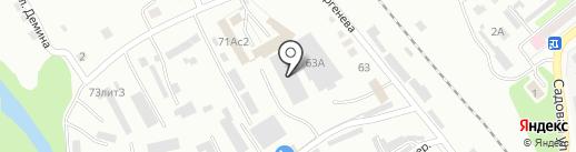 Делайн на карте Уссурийска