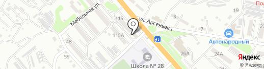 Сияние на карте Уссурийска