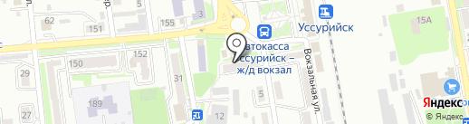 Барбарики на карте Уссурийска