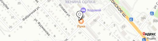 Луна на карте Уссурийска