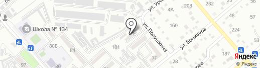 Цирюльня на Урицкого на карте Уссурийска
