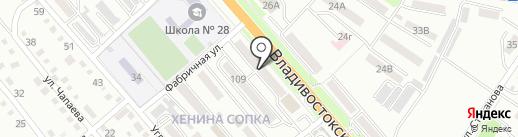 Лоридент на карте Уссурийска