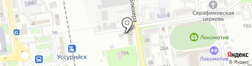 Довольный слон на карте Уссурийска