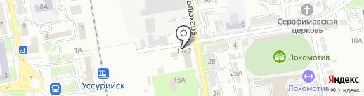 Дева на карте Уссурийска