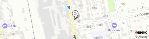 Заводской Ветеран на карте Уссурийска
