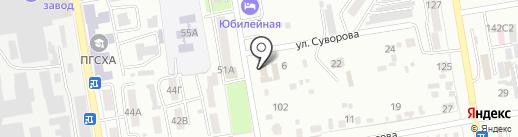 Яна на карте Уссурийска