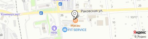 Кооператив Заря на карте Уссурийска