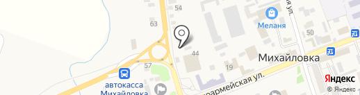 Касансай на карте Михайловки