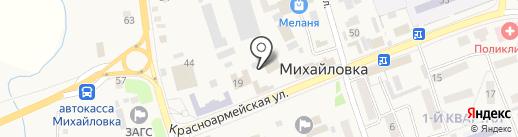 Тропики на карте Михайловки