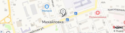 Цветочный магазин на карте Михайловки