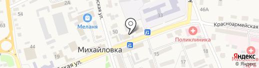 Линда на карте Михайловки