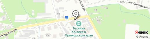 Автокомплекс на Грязелечебнице на карте Владивостока