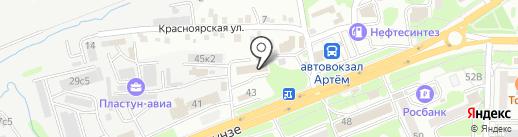 Центр двери на карте Артёма