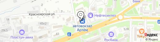 Bus-курьер на карте Артёма