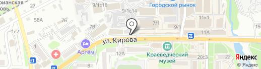 Магазин товаров для активного отдыха на карте Артёма