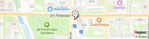Блиново на карте Артёма