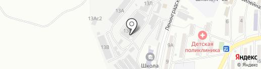 Барк на карте Находки
