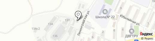 Каскад Находка на карте Находки